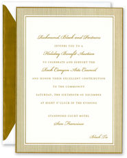 Gold Pinstripe Invitations