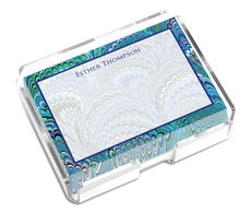 Peacock Marble Post-it® Notes