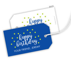 Birthday Confetti Hanging Gift Tags