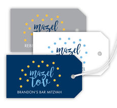 Mazel Tov Confetti Hanging Gift Tags