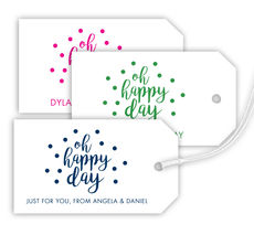 Oh Happy Day Confetti Hanging Gift Tags