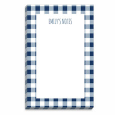 Navy Gingham Border Notepads