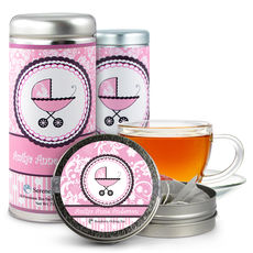 Girl Baby Carriage Tea Tin Party Favors