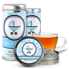 Baby Boy Carriage Tea Tin Party Favors