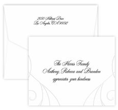 Art Deco Swirl Folded Note Cards on Double Thick Stock