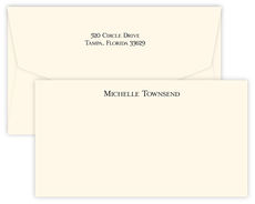 Triple Thick Classic Wide Flat Note Cards