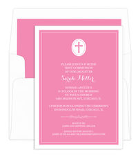 Pink Cross Invitations
