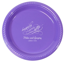 Personalized Happily Ever After Plastic Plates