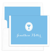 Blue Chalice Foldover Note Cards