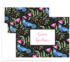 Black Birds of a Feather Foldover Note Cards