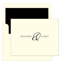 Elegant Ampersand Foldover Note Cards