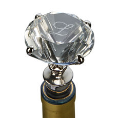 Engraved Diamond Shaped Bottle Stopper