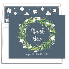 Spring Wreath Thank You Note Cards