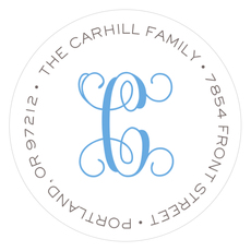 Clean and Simple Round Address Labels