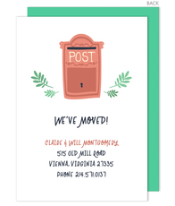 Post Box Moving Announcements
