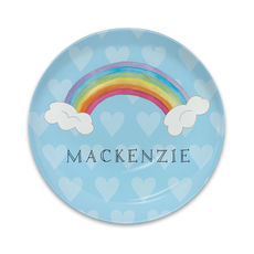 Unicorn Over The Rainbow Melamine Snack Plate