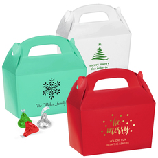 Personalized Large Favor Boxes for Christmas