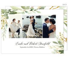 Greenery Photo Wedding Announcements