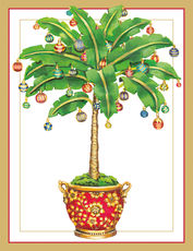Ornamented Palm Holiday Cards