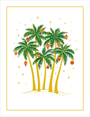 Embossed Christmas Palms Holiday Cards