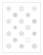 Embossed Cloud Crystals Holiday Cards