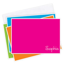 Caribbean Colorful Flat Note Card Collection