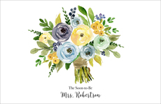 Yellow and Blue Bouquet Placemats
