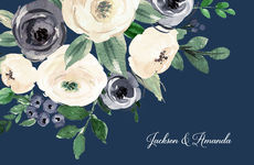 Gray and Ivory Roses Placemats