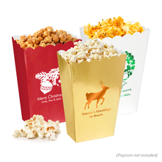 Personalized Mini Popcorn Boxes for Christmas