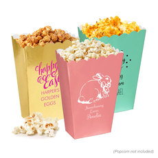 Personalized Mini Popcorn Boxes for Easter