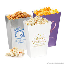 Personalized Mini Popcorn Boxes for Weddings