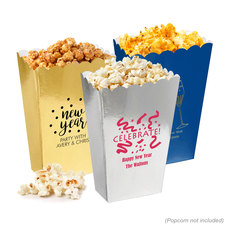 Personalized Mini Popcorn Boxes for New Year's Eve