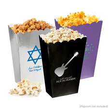 Personalized Mini Popcorn Boxes for Bar/Bat Mitzvah