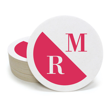 Asymmetric Initials Round Coasters