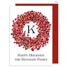 Wreath of Berries Flat Holiday Cards