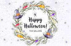 Halloween Wreath Placemats