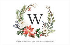 White Holiday Floral Spray Placemats