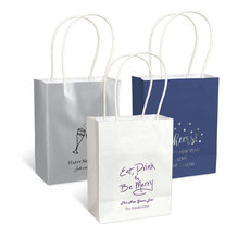 Personalized Mini Twisted Handled Bags for New Year's Eve