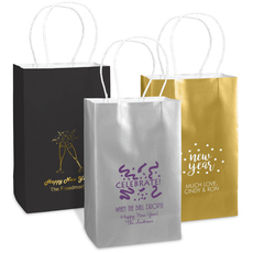 Personalized Medium Twisted Handled Bags for New Year's