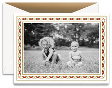 Woven Ribbons Photo Cards