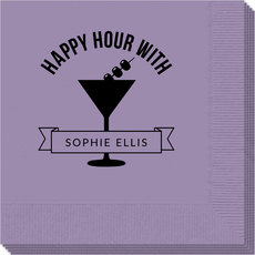 Happy Hour Martini Napkins
