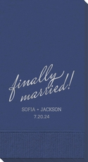 Expressive Script Finally Married Guest Towels