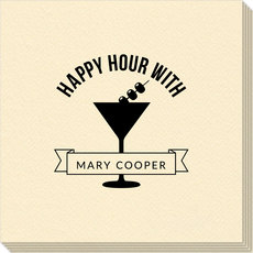 Happy Hour Martini Linen Like Napkins