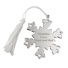 Personalized Snowflake Shaped Ornament