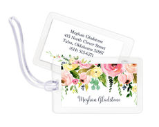 Spring Peonies Luggage Tags