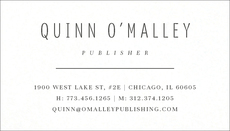 Tailored Letterpress Business Cards