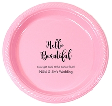 Personalized Hello Beautiful Plastic Plates