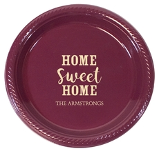 Personalized Home Sweet Home Plastic Plates