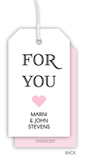 Pink For You Heart Hanging Gift Tags