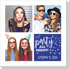 Party All Night Photo Napkins